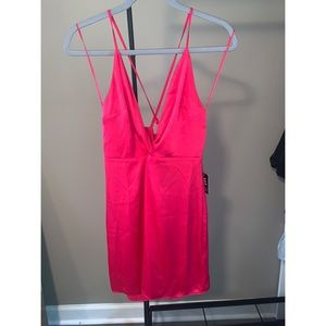 Hot Pink backless dress